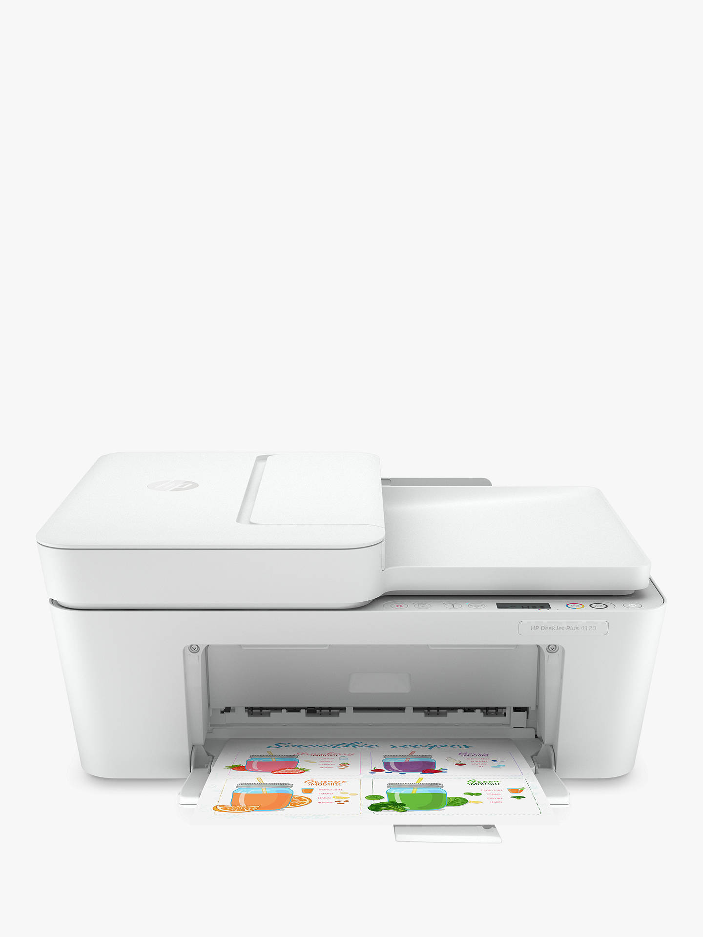 Buy HP Deskjet Plus 4120 All-In-One Wireless Printer, HP Instant Ink Compatible with 3 Months Trial, White Online at johnlewis.com