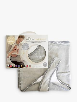 Cuddledry Baby Towel, Grey Stars