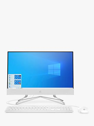 "HP 22-df0025na All-in-One Desktop PC, Intel Core i3 Processor, 8GB RAM, 128GB SSD, 21.5"" Full HD, Snow White"