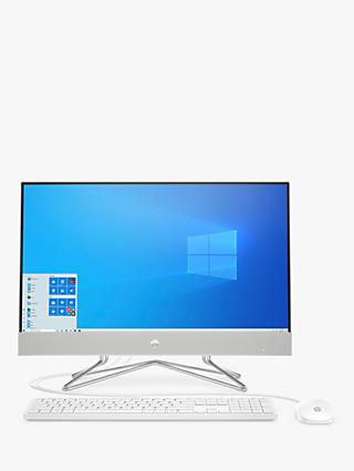 "HP 24-dp0005na All-in-One Desktop PC, Intel Core i5 Processor, 8GB RAM, 256GB SSD, 23.8"" Full HD, Natural Silver"