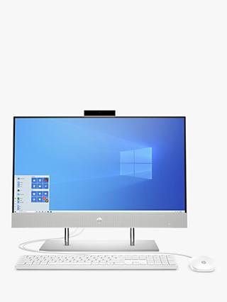 "HP 24-dp0004na All-in-One Desktop PC, Intel Pentium Processor, 4GB RAM, 128GB SSD, 23.8"" Full HD, Natural Silver"