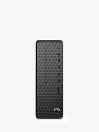 HP Slim S01-aF1000na Desktop PC, Intel Celeron Processor, 4GB RAM, 1TB HDD, Jet Black