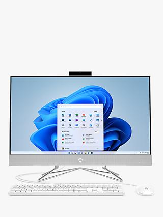 "HP 22-df0001na All-in-One Desktop PC, Intel Pentium Processor, 4GB RAM, 128GB SSD, 21.5"" Full HD, Snow White"