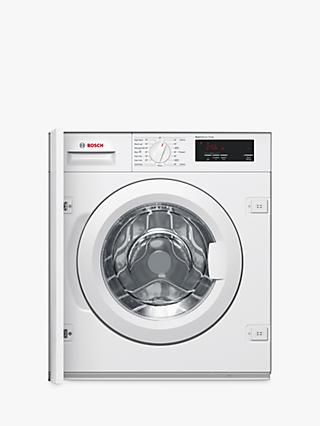 Bosch WIW28300GB Integrated Washing Machine, 8kg Load, A+++ Energy Rating, 1400rpm Spin, White