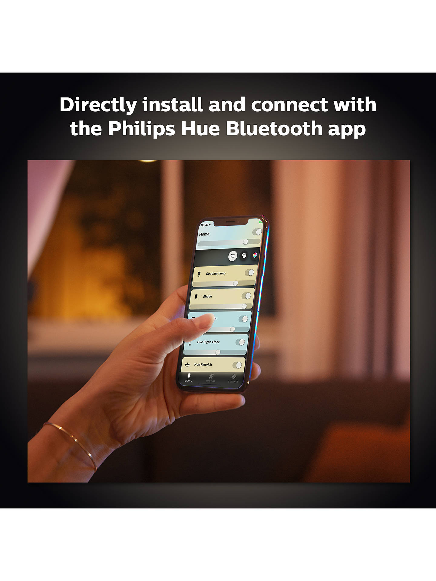 Philips Hue White Ambiance Cher Led Pendant Ceiling Light With Bluetooth And Dimmer Switch At John Lewis Partners