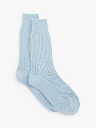 John Lewis & Partners Cashmere Bed Ankle Socks