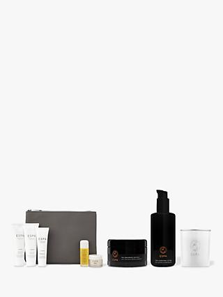 ESPA Modern Alchemy Grounding Crystals, Hydration Lotion and Restorative Candle Bundle with Gift