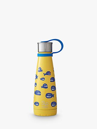 S'ip by S'well Whale Design Vacuum Insulated Drinks Bottle, 295ml, Yellow