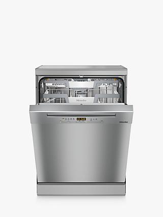 Miele G5223SC Freestanding Dishwasher, Clean Steel