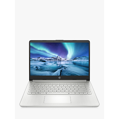 Image of HP 14SS Laptop, Intel Pentium Processor, 4GB RAM, 128GB SSD, 14 Full HD, Silver