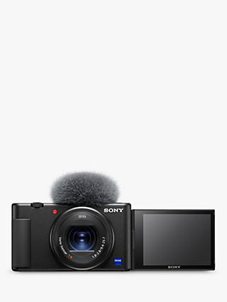 "Sony ZV-1 Compact Camera with 24-70mm Lens, 2.7x Optical Zoom, 4K Ultra HD, 20.1MP, Wi-Fi, Bluetooth, 3"" Vari-Angle Touch Screen, Black"
