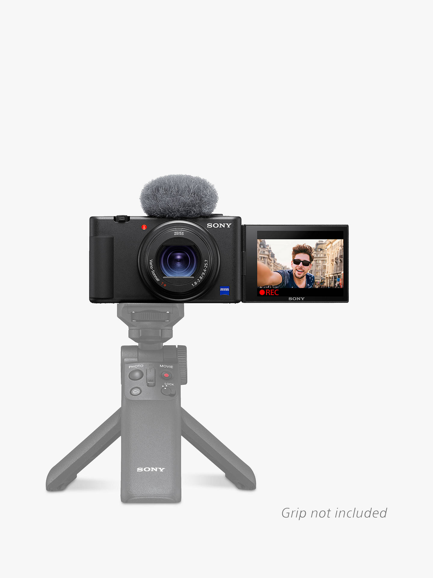"Buy Sony ZV-1 Compact Vlogging Camera with 24-70mm Lens, 2.7x Optical Zoom, 4K Ultra HD, 20.1MP, Wi-Fi, Bluetooth, 3"" Vari-Angle Touch Screen, Black Online at johnlewis.com"