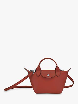 Longchamp Le Pliage Cuir Mini Leather Top Handle Bag