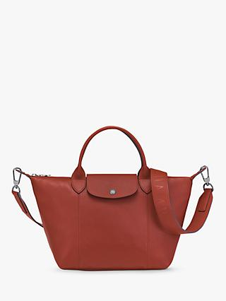 Longchamp Le Pliage Cuir Leather Top Handle Bag