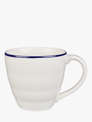 John Lewis & Partners Harbour Blue Band Mug, 340ml, White/Blue