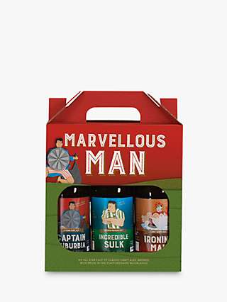 Cottage Delight Marvellous Man Craft Beer Set, 3x 500ml