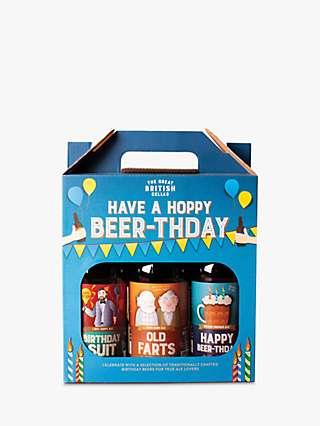 Cottage Delight Hoppy Beer-thday Craft Beer Set, 3x 500ml