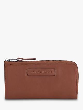 Longchamp 3D Leather Zip Wallet