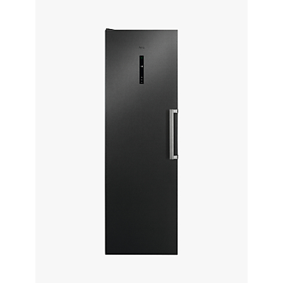 AEG 7000 AGB728E5NB Freestanding Freezer, A++ Energy Rating, 59.5cm Wide, Black Stainless Steel