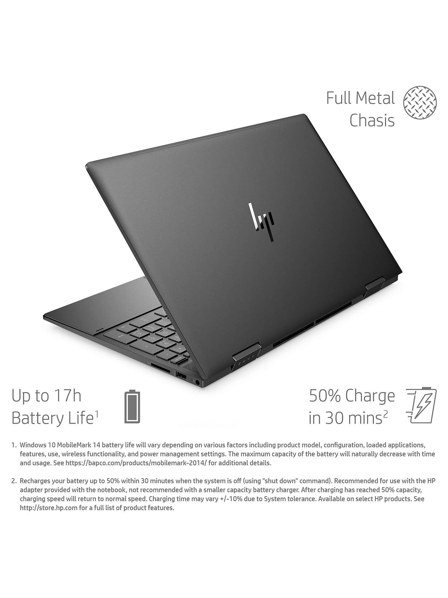 Hp Envy X360 15 Ee0000na Convertible Laptop Amd Ryzen 5 Processor 8gb Ram 512gb Ssd 15 6 Full Hd Black At John Lewis Partners