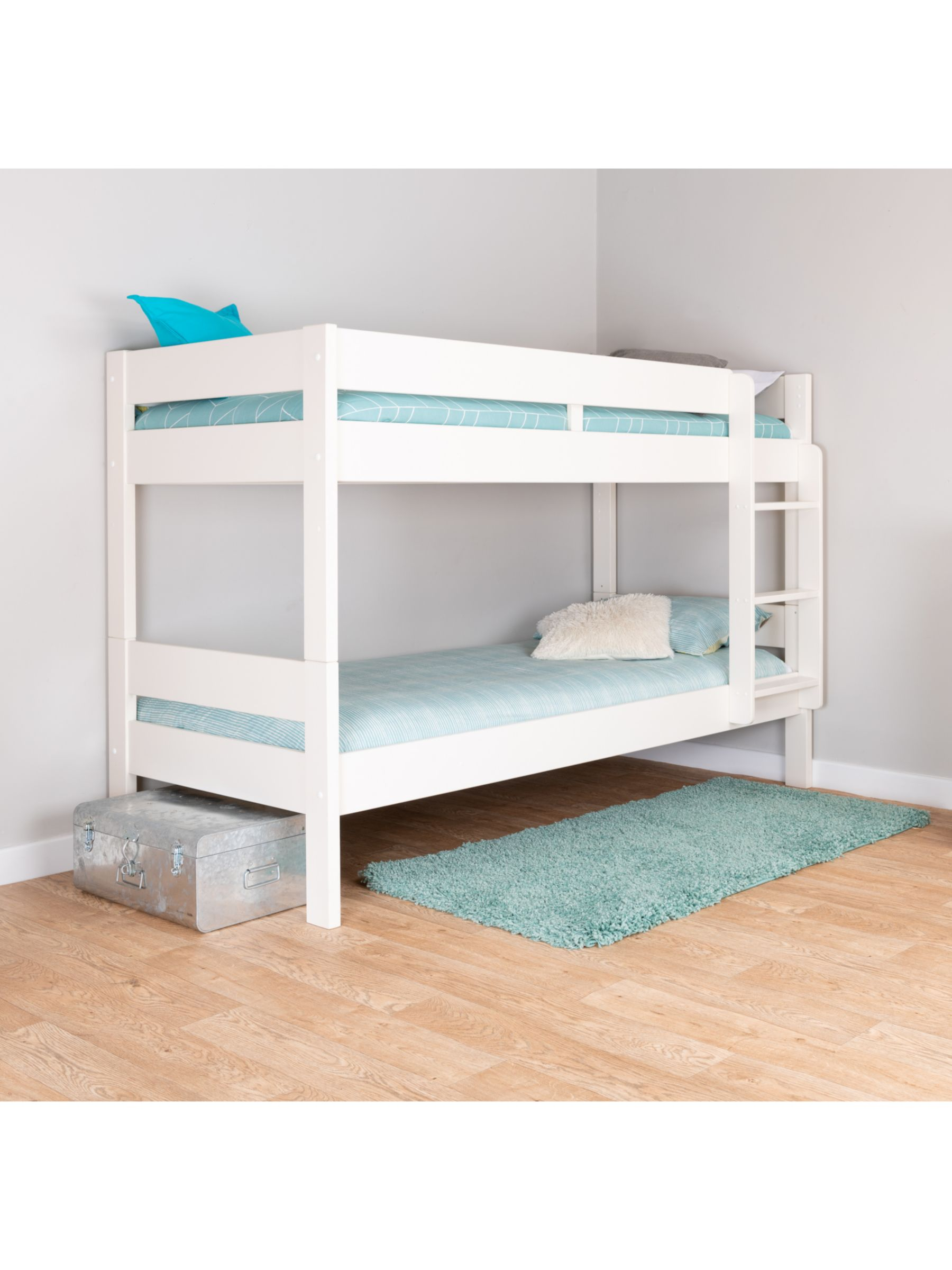 Picture of: Stompa Compact Detachable Bunk Bed Single White At John Lewis Partners