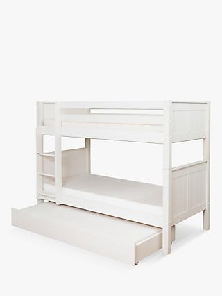 Stompa Classic Child Compliant Bunk Bed with Trundle Mattress, Single, White