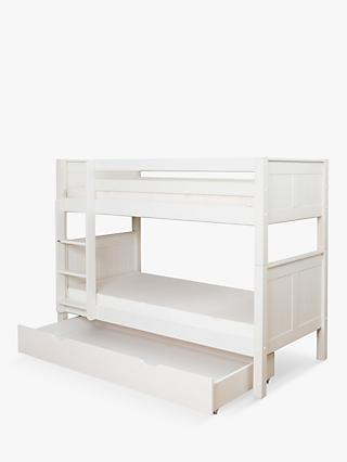 Stompa Classic Child Compliant Bunk Bed with Trundle Drawer, Single, White