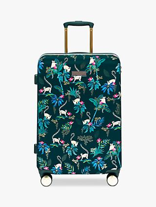 Sara Miller Lemur 67cm 4-Wheel Medium Suitcase, Dark Green