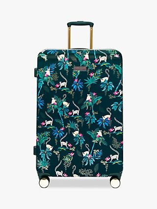 Sara Miller Lemur 77cm 4-Wheel Large Suitcase, Dark Green