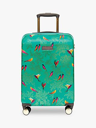 Sara Miller Green Birds 54cm 4-Wheel Cabin Case, Green