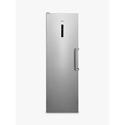 AEG AGB728E5NX Freestanding Freezer, A++ Energy Rating, 59.5cm Wide, Stainless Steel