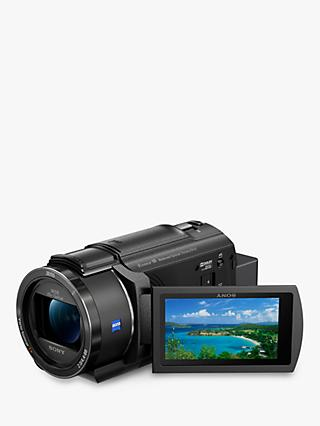"Sony FDR-AX43 Handycam with 4K Ultra HD, Balanced Optical SteadyShot, 8.29MP, 20x Optical Zoom, NFC, Wi-Fi, 3"" LCD Touch Screen, Black"