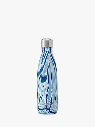 S'well Textile Santorini Vacuum Insulated Drinks Bottle, 500ml, Blue
