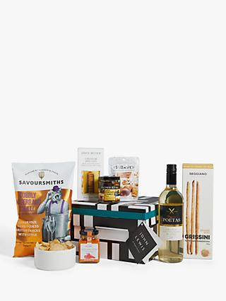 John Lewis & Partners White Wine and Nibbles Hamper