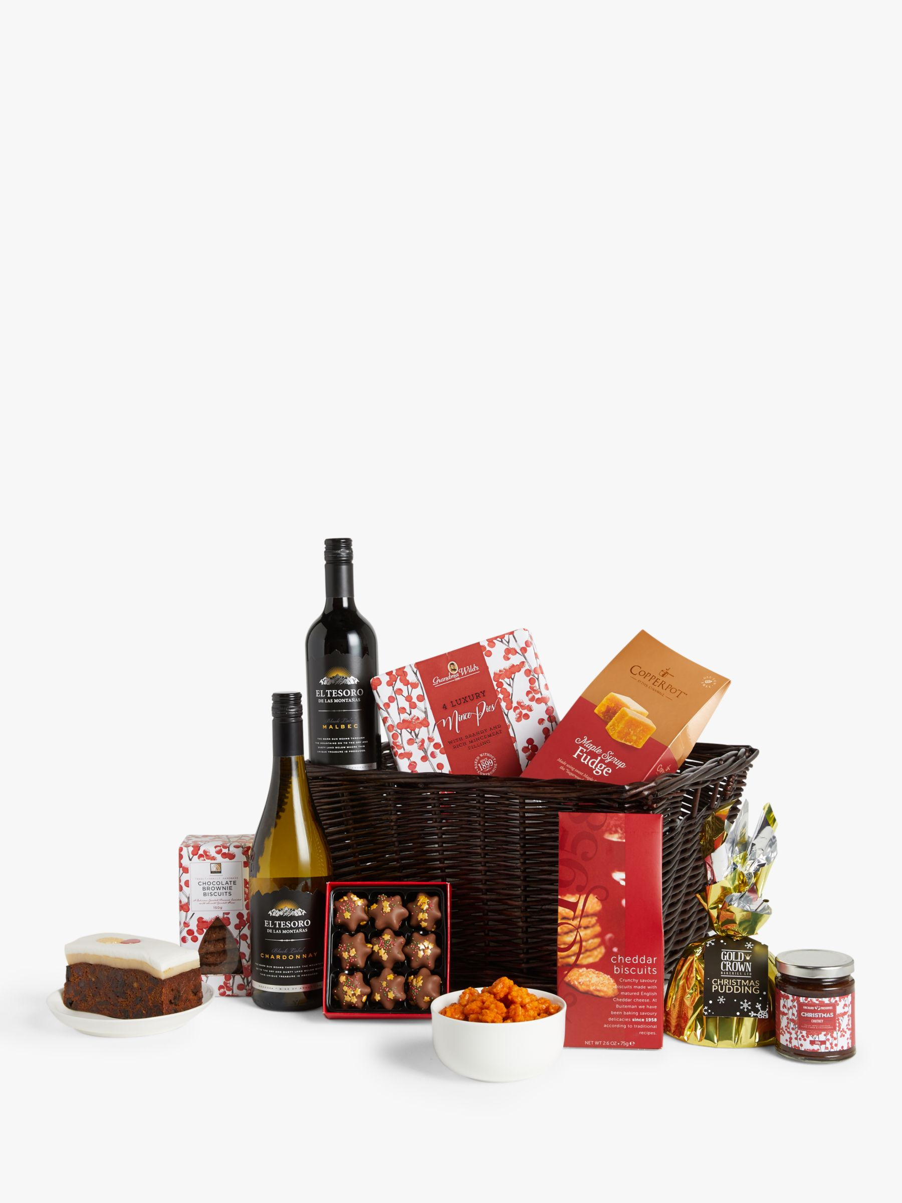 John Lewis & Partners Winter Warmer Christmas Basket