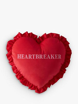 Skinnydip Heartbreaker Cushion, Red