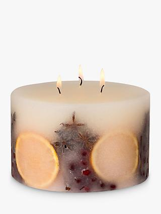 John Lewis & Partners Winter Spice Inclusion 3 Wick Scented Candle, 1.17kg