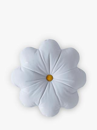 Skinnydip Daisy Cushion, White