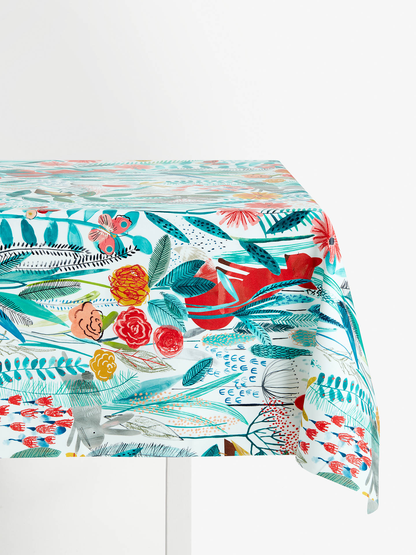 Buy Harlequin Hide and Seek PVC Tablecloth Fabric, Poppy Online at johnlewis.com