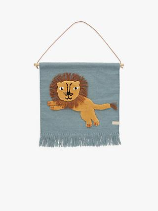 OYOY MINI Jumping Lion Wall Hanging Decoration, Multi