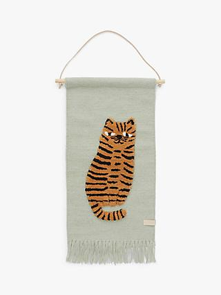 OYOY MINI Tiger Wall Hanging Decoration, Green