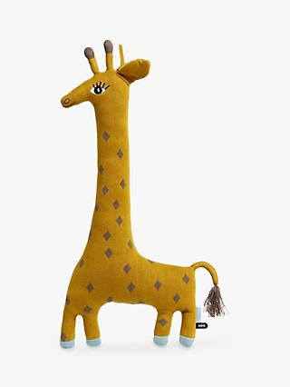 OYOY MINI Noah the Giraffe Cushion, Yellow