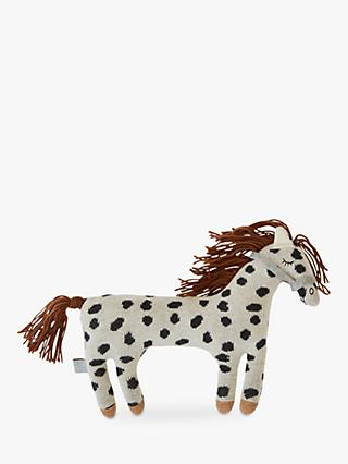 OYOY MINI Darling Little Pelle Pony Cushion, White/Black