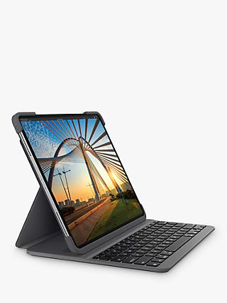 "Logitech Slim Combo Folio Backlit Keyboard for iPad Pro 11"" (1st and 2nd Gen), Graphite"
