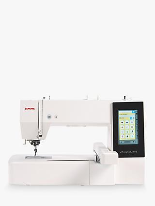 Janome Memory Craft 500E Embroidery Machine, White