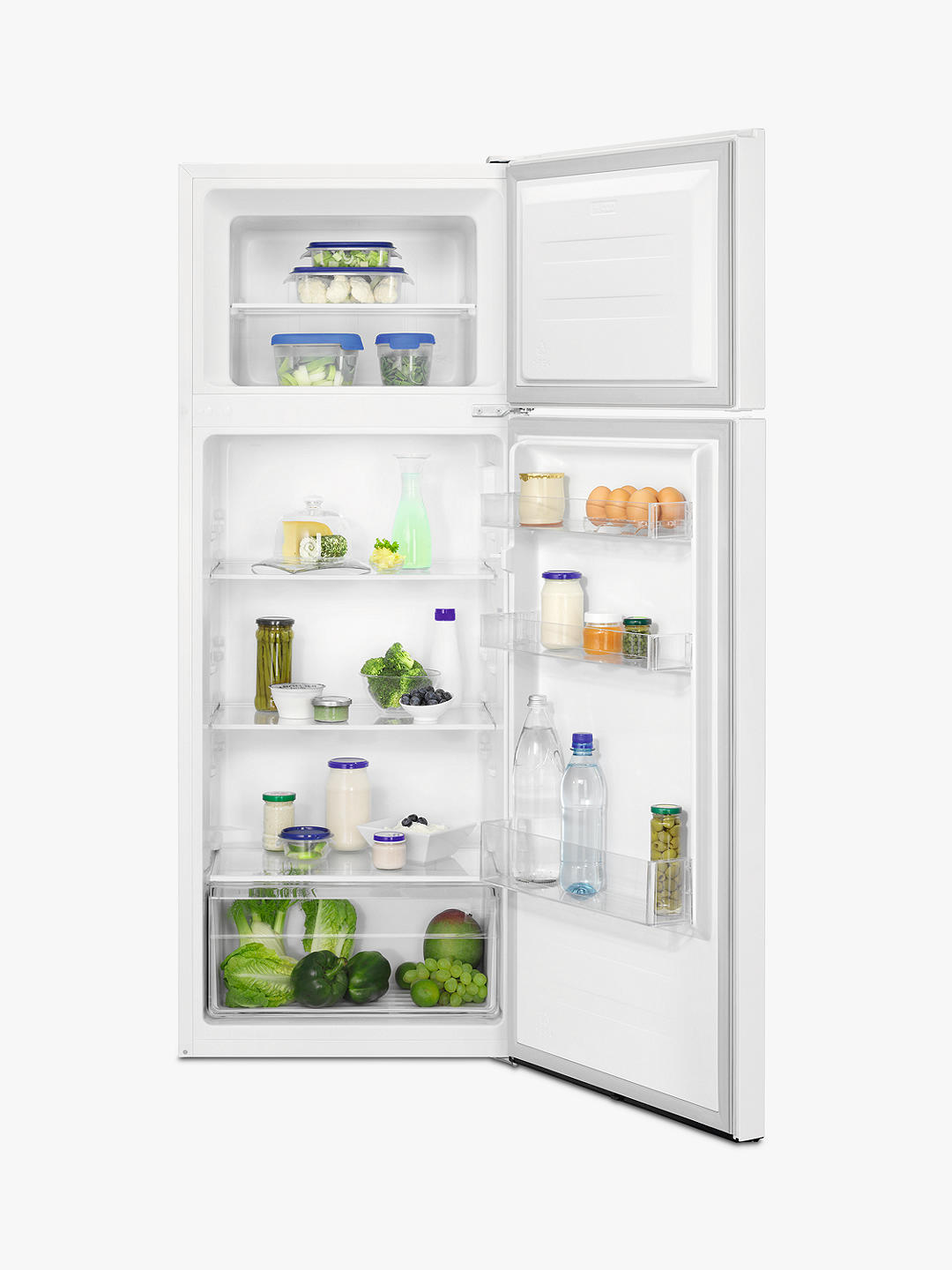 Buy Zanussi ZTAN24FW0 Freestanding 80/20 Fridge Freezer, 55cm Wide, White Online at johnlewis.com