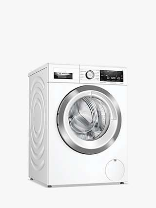 Bosch Serie 8 WAX32MH9GB Freestanding Washing Machine, 9kg Load, 1600rpm Spin, White