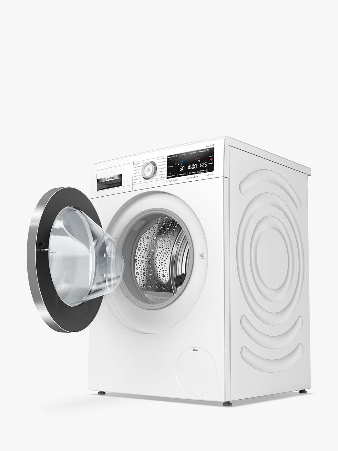 Buy Bosch Serie 8 WAX32MH9GB Freestanding Washing Machine, 9kg Load, 1600rpm Spin, White Online at johnlewis.com