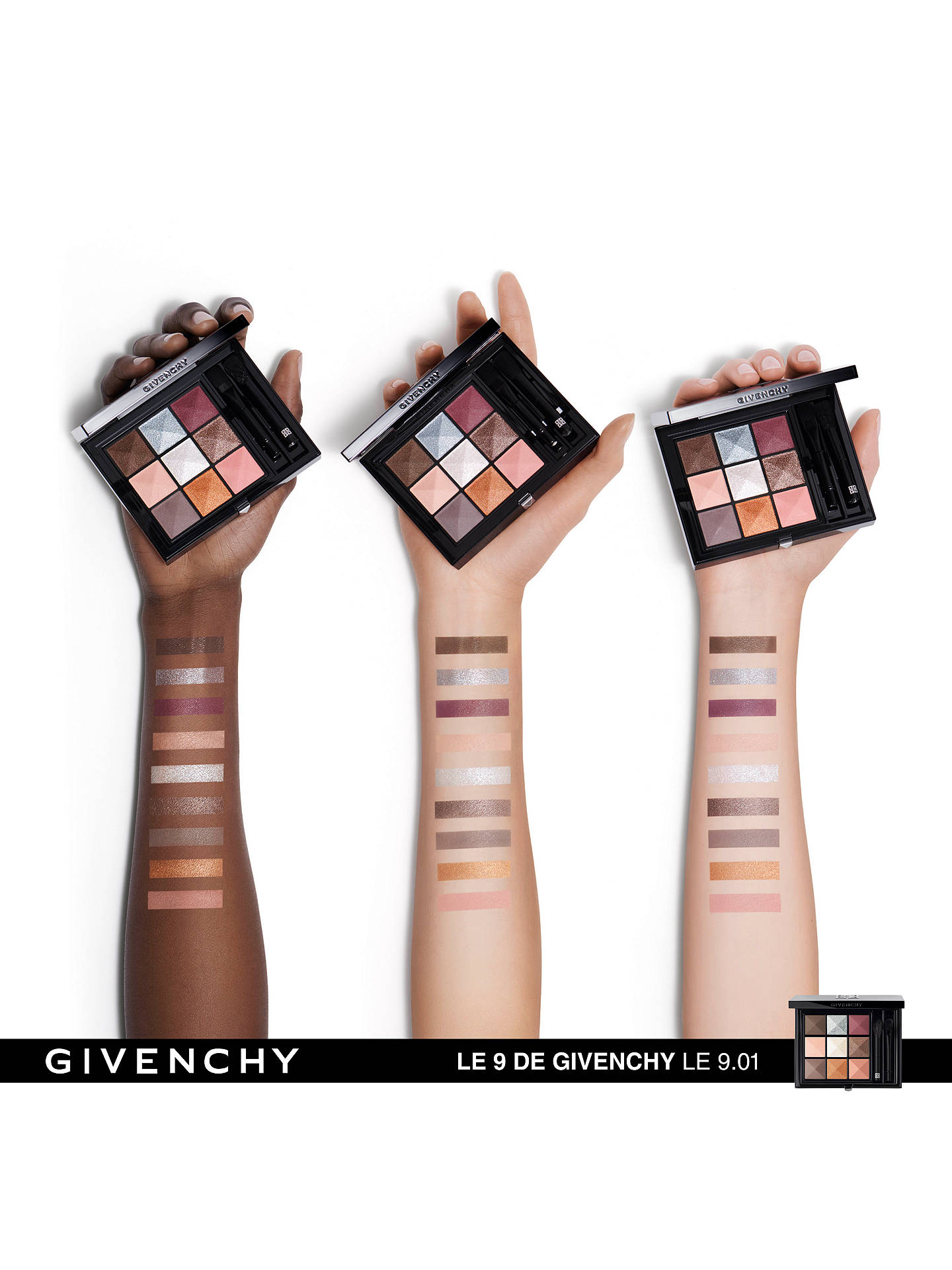 Buy Givenchy Le 9 de Givenchy Multi-Finish Eyeshadow Palette, 9.01 Online at johnlewis.com