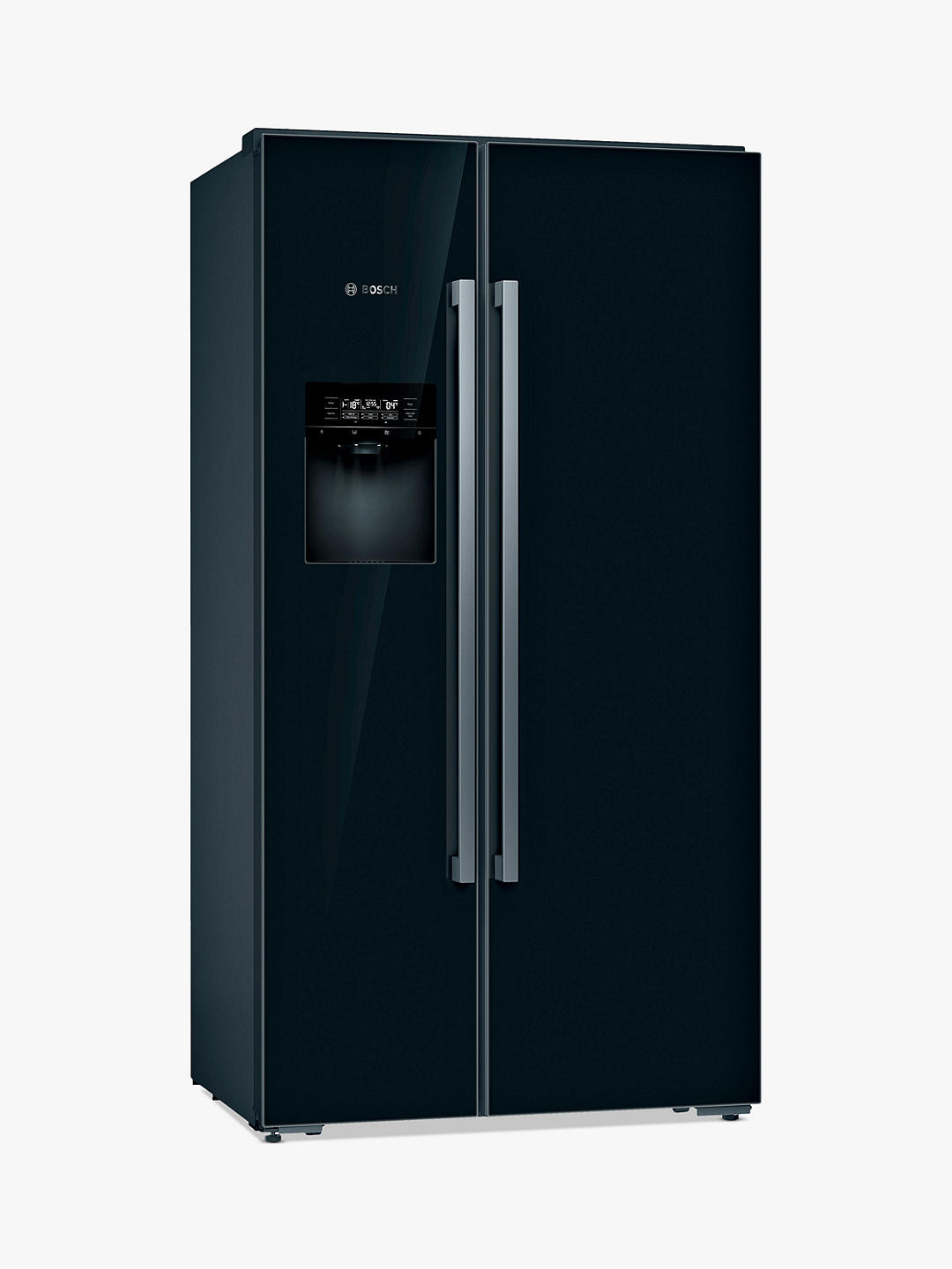 Buy Bosch Serie 8 KAD92HBFP Freestanding 70/30 American Fridge Freezer, Black Online at johnlewis.com